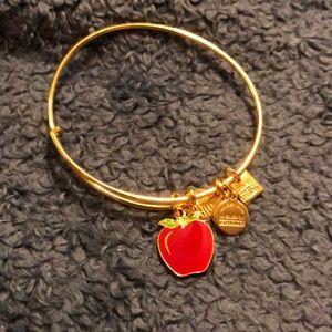 Alex and Ani gold apple bracelet
